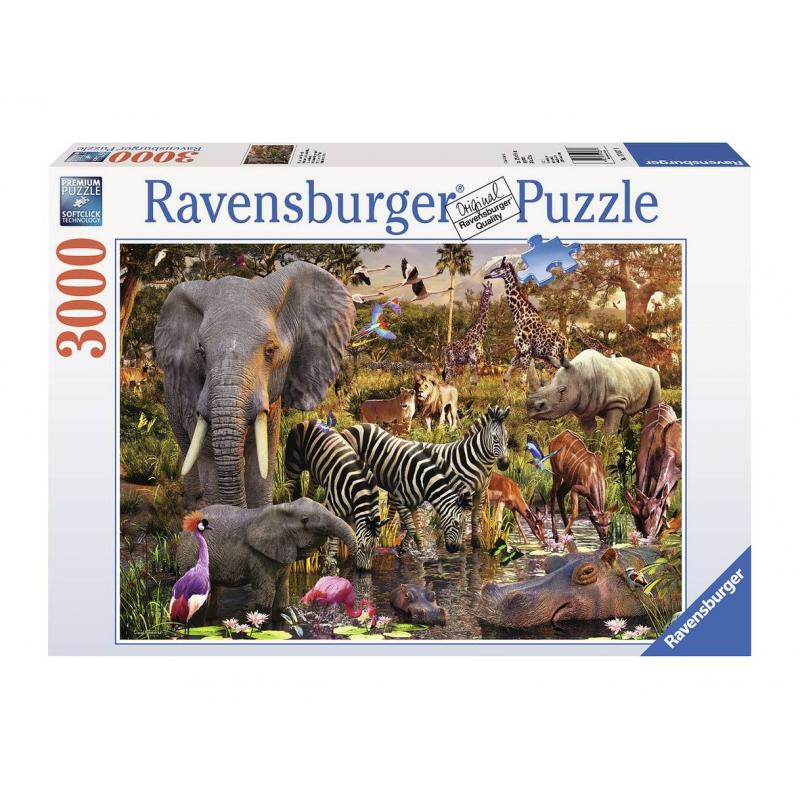 RAVENSBURGER Пазл Животные Африки 3000 деталей ravensburger забавные животные 3х49шт