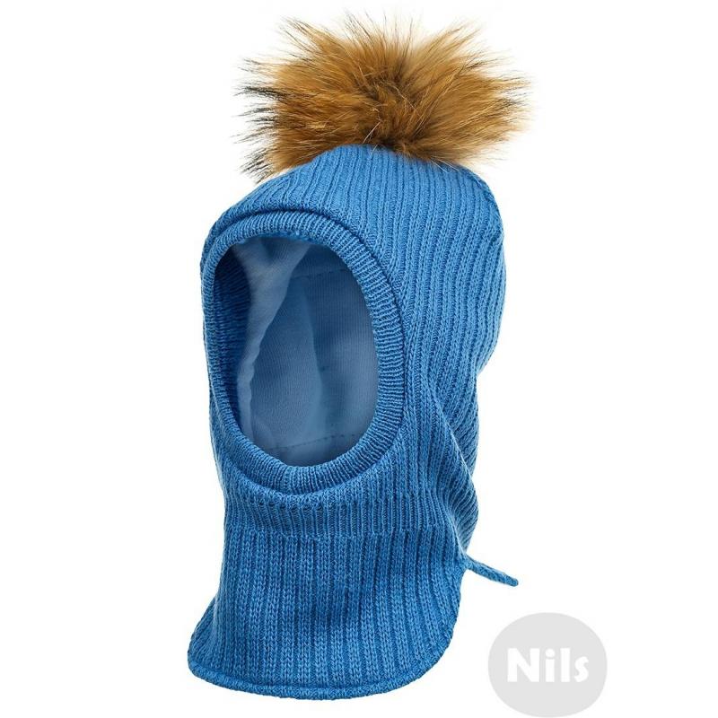 Шапка-шлемСиняя шапка-шлем с помпоном марки PILGUNI для мальчиков. Шапка выполнена из шерстяного трикотажа, подкладка из стопроцентного хлопка. В области ушей утеплитель. Шапка украшена помпоном из натурального меха (енот)<br><br>Размер: 12 месяцев<br>Цвет: Синий<br>Размер: 43<br>Пол: Для мальчика<br>Артикул: 606188<br>Страна производитель: Польша<br>Сезон: Осень/Зима<br>Состав: 50% Шерсть, 50% Акрил<br>Состав подкладки: 100% Хлопок<br>Бренд: Польша