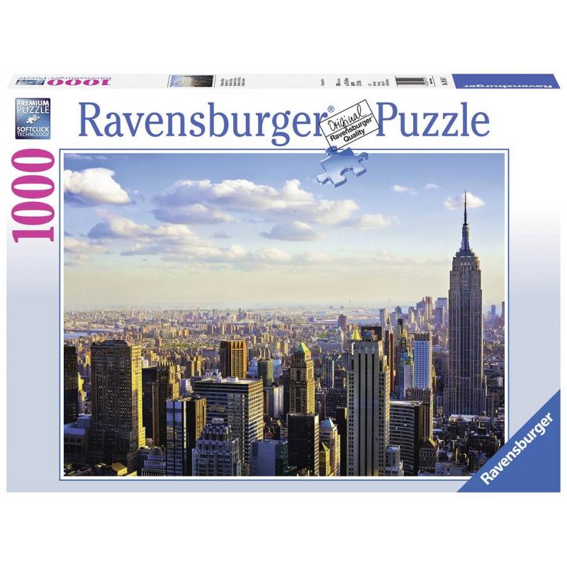 ravensburger пазл на лугу 37 деталей ravensburger RAVENSBURGER Пазл Утро на Манхэттене 1000 деталей