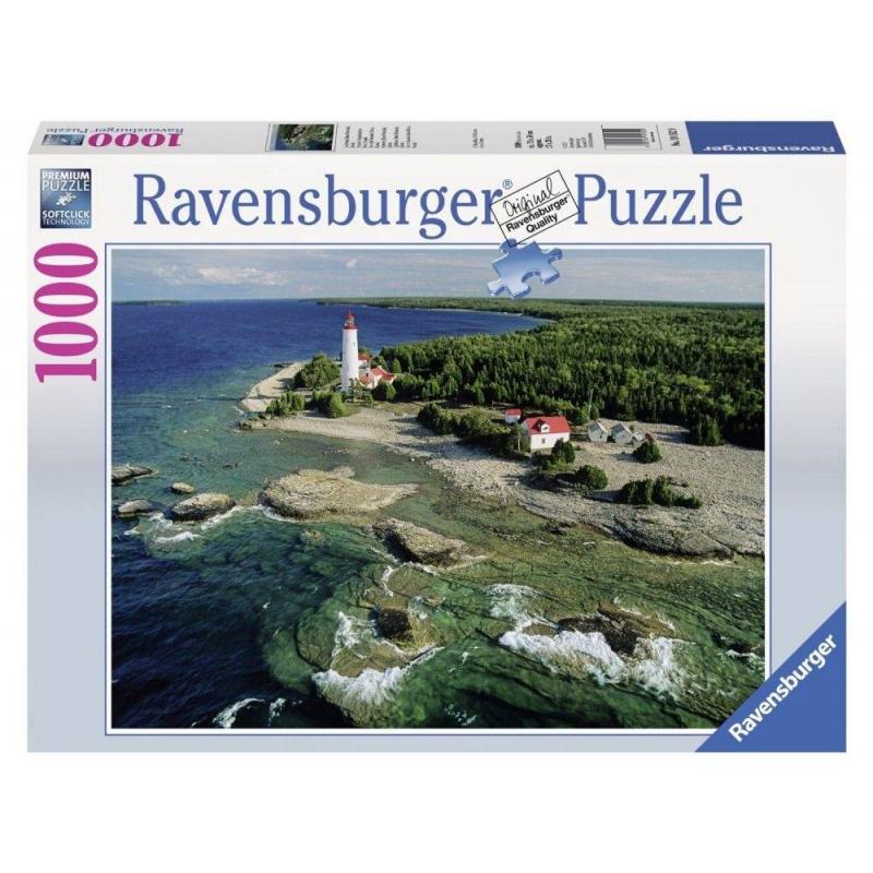 RAVENSBURGER Пазл Маяк на полуострове Брус 1000 деталей оцилиндрованный брус в уфе