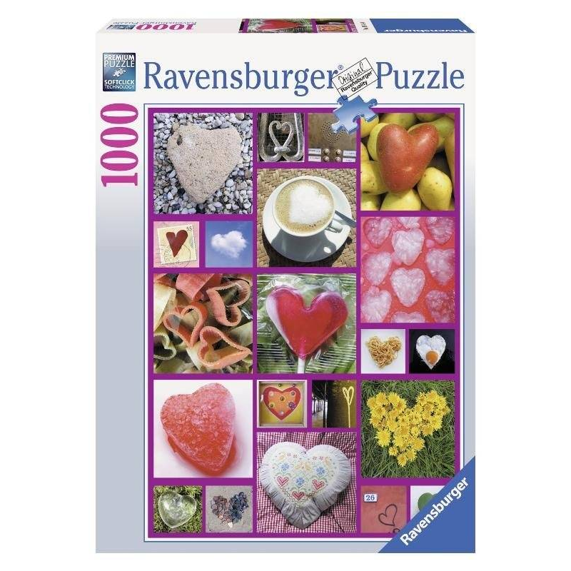 RAVENSBURGER Пазл Сердца 1000 деталей ravensburger ravensburger 1000