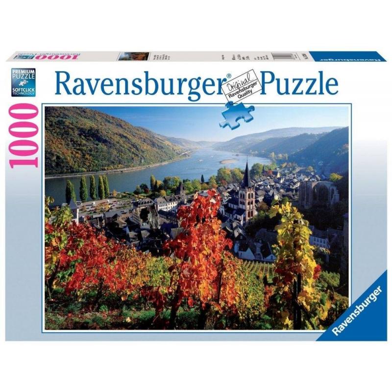 RAVENSBURGER Пазл Город на Рейне 1000 деталей пазл ravensburger утро на манхэттене 1000 элементов