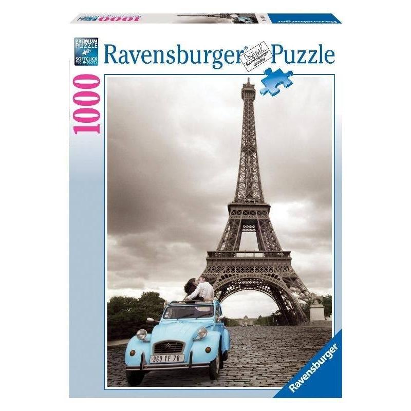 RAVENSBURGER Пазл Романтика в Париже 1000 деталей пазл ravensburger вечер в париже 500 элементов 14505