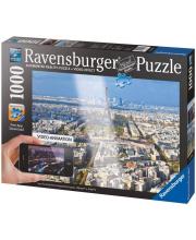 Пазл Крыши Парижа с видео-анимацией 1000 деталей RAVENSBURGER