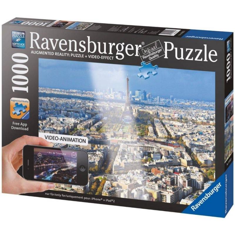 RAVENSBURGER Пазл Крыши Парижа с видео-анимацией 1000 деталей пазлы ravensburger пазл дом бальо в барселоне 1000 шт