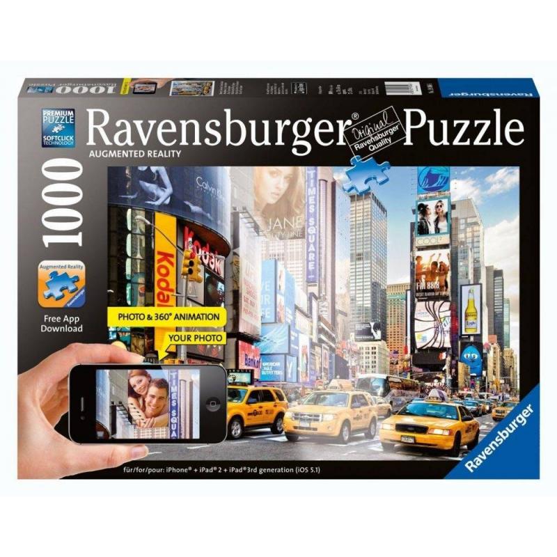 RAVENSBURGER Пазл Утро на Таймс-сквер с видео-анимацией 1000 деталей пазл ravensburger утро на манхэттене 1000 элементов