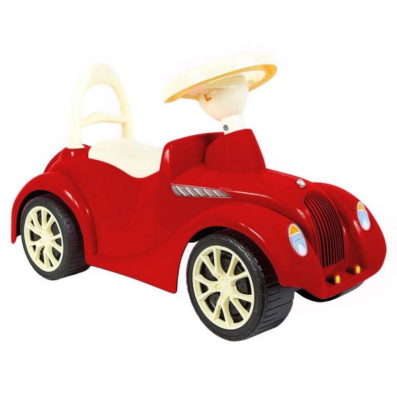 Каталка РетроКаталка Ретро красногоцвета марки RT.<br>Стильная четырехколесная машина-каталка в ретро стиле выполнена из прочного пластика. Модель оснащена удобным сиденьем, спинкой, широкими колесами, а также небольшим багажником для любимых игрушек. Модная модель понравится любому ребенку, и он весело проведет время как на улице, так и дома.<br>Размеризделия: 62х37х27 см.<br>Максимальная нагрузка: 25 кг.<br>Вес изделия: 3 кг.<br><br>Цвет: Красный<br>Возраст от: 10 месяцев<br>Пол: Не указан<br>Артикул: 650518<br>Страна производитель: Китай<br>Бренд: Россия<br>Размер: от 10 месяцев