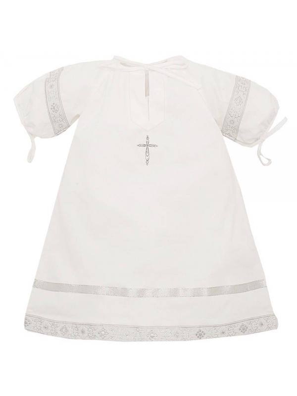 Рубашка крестильная Ангел мой (серый)