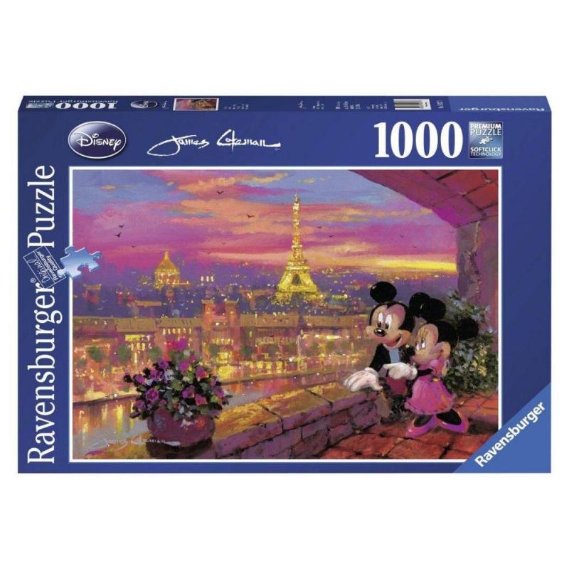 RAVENSBURGER Пазл Микки и Минни в Париже 1000 деталей игрушка для животных каскад удочка с микки маусом 47 см