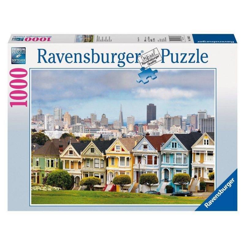 RAVENSBURGER Пазл Викторианские дома Сан-Франциско 1000 деталей