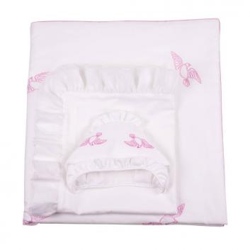 Малыши, Комплект на выписку Ангел мой 7 предметов Ангел мой (розовый)640498, фото