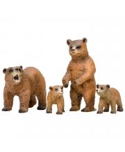 Набор фигурок Мир диких животных Семья медведей 4 шт Masai Mara