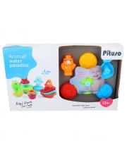 Набор игрушек для ванной Забавные животные PITUSO