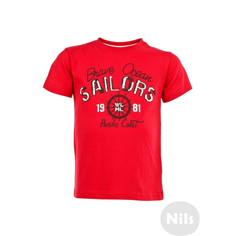 ФутболкаКрасная футболка с коротким рукавом марки WOOLOO MOOLOO для мальчиков. Футболка выполнена из стопроцентного хлопкового трикотажа и украшена принтом с вышивкой на морскую тематику.<br><br>Размер: 12 месяцев<br>Цвет: Красный<br>Рост: 80<br>Пол: Для мальчика<br>Артикул: 606630<br>Бренд: Испания<br>Страна производитель: Китай<br>Сезон: Весна/Лето<br>Состав: 100% Хлопок