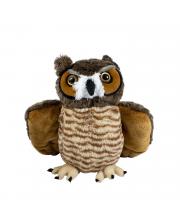 Мягкая игрушка Большая рогатая сова 37 см Wild republic