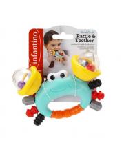 Погремушка-прорезыватель Веселый краб Infantino