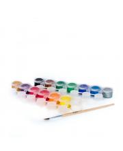 Набор темперных красок с кисточкой