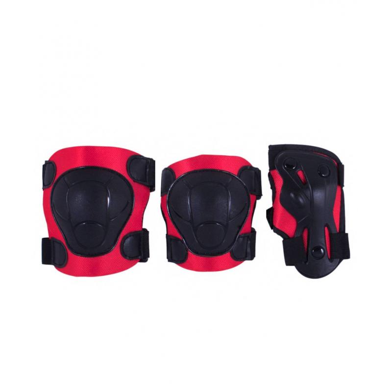 Комплект защиты ArmorКомплект защиты Armor красногоцвета марки Ridex.<br>Комплект состоит из защиты на локти, колени и запястье. Изделия с плотным внутренним материалом, удобными застежками липучкой, а также крепкой пластиковой накладкой для безопасности суставов. Защита дополнена регулируемыми ремнями для застегивания.<br>Для детей от 7 лет;<br>Внешний материал: ПВХ;<br>Внутренний материал: ткань.<br><br>Цвет: Красный<br>Размер: Без размера<br>Пол: Не указан<br>Артикул: 669038<br>Страна производитель: Китай<br>Бренд: Россия