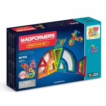 Игрушки, Магнитный конструктор Creative 90 MAGFORMERS 658086, фото