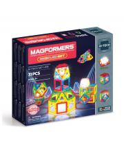 Магнитный конструктор Neon Led set MAGFORMERS