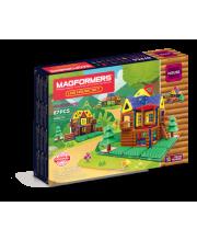 Магнитный конструктор Log House Set MAGFORMERS