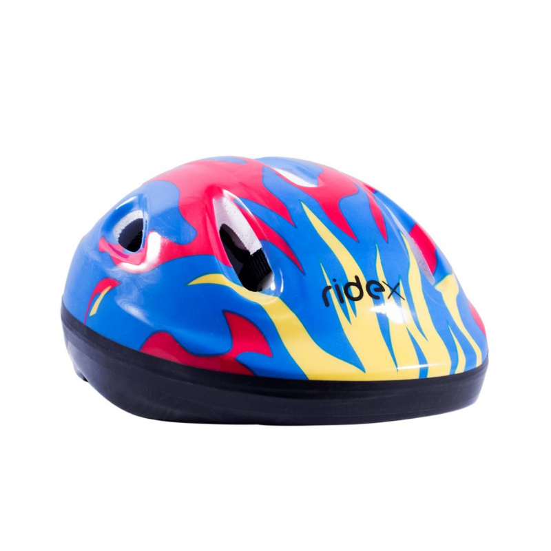 Шлем защитный FireШлем защитный Fire синегоцвета марки Ridex.<br>Яркий шлем предназначен для защиты головы во время катания на коньках, самокате или скейтборде. Модель для большей амортизации дополнена внутренними пенными вставками, а также для комфортного крепления на голове имеется регулируемый ремень на подбородок.<br>Внешний материал: ПВХ;<br>Внутренний материал: пена;<br>Размер S - для детей от 3 лет;<br>Размер M - для детей от 5 лет.<br><br>Цвет: Синий<br>Размер: Без размера<br>Пол: Не указан<br>Артикул: 669061<br>Страна производитель: Китай<br>Бренд: Россия