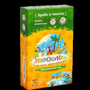 Игрушки, Развивающая настольная игра Зверобуквы Банда Умников 658321, фото