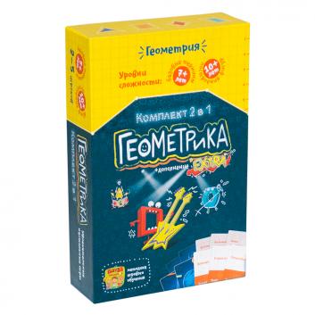 Игрушки, Развивающая настольная игра Геокомплект 2 в 1 Банда Умников 658328, фото