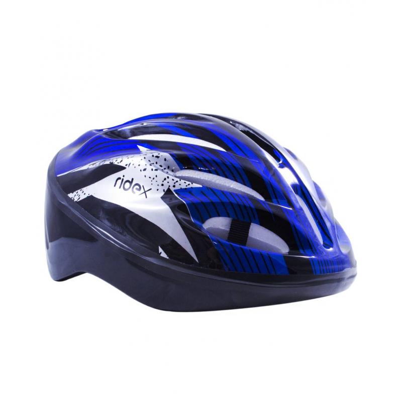 Шлем защитный CycloneШлем защитный Cyclone синегоцвета марки Ridex.<br>Яркий шлем предназначен для защиты головы во время катания на коньках, самокате или скейтборде. Модель для большей амортизации дополнена внутренними пенными вставками, а также для комфортного крепления на голове имеется регулируемый ремень на подбородок.<br>Внутренняя окружность: 58;<br>Внешняя окружность: 83;<br>Внешний материал: ПВХ;<br>Внутренний материал: пена;<br>Для детей от 6 до 11 лет.<br><br>Цвет: Синий<br>Размер: Без размера<br>Пол: Не указан<br>Артикул: 669056<br>Страна производитель: Китай<br>Бренд: Россия