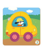 Пазл сортер Машинка 5 деталей Dodo