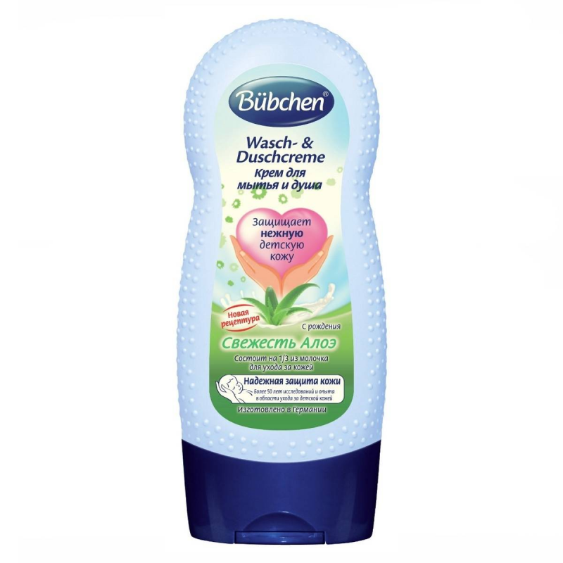 Крем для мытья и душа Свежесть алоэ 230 мл (Bubchen)