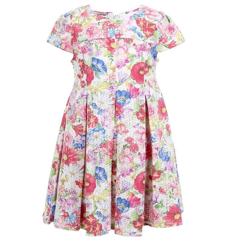 ПлатьеПлатье малиновогоцвета марки Mayoral.<br>Нежное платье с завышенной талией декорировано ярким цветочным принтом. Платье застегивается на потайную молнию и дополнено подкладкой из чистого хлопка.<br><br>Размер: 4 года<br>Цвет: Малиновый<br>Рост: 104<br>Пол: Для девочки<br>Артикул: 646570<br>Бренд: Испания<br>Страна производитель: Индия<br>Сезон: Весна/Лето<br>Состав: 65% Полиэстер, 35% Хлопок<br>Состав подкладки: 100% Хлопок<br>Вид застежки: Молния