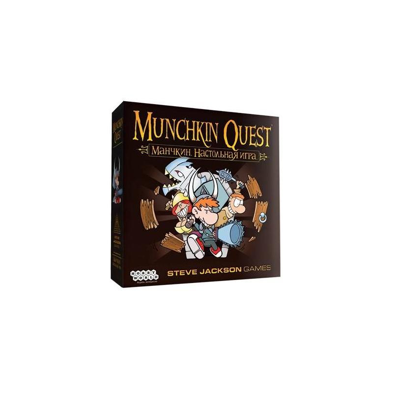 Купить Настольная игра Манчкин Квест, Hobby World, от 12 лет, Не указан, 658248, Россия