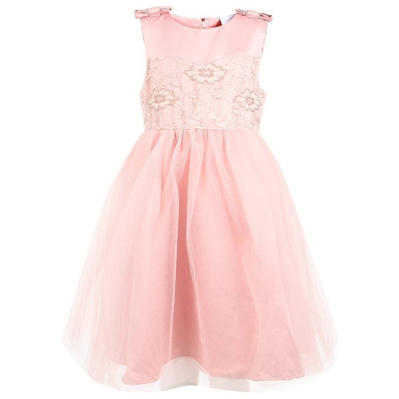ПлатьеПлатье розовогоцвета маркиSweet Berry.<br>Праздничноеплатьевыполненоиз мягкой ткани, дополненоподъюбником из плотного фатина и хлопковой подкладкой. Пышная многослойная юбочка декорирована тонким нежным полупрозрачным фатином. Топ с широкими бретелями украшеннежным кружевом, вышивкой из бисера и двумя объёмными бантиками на плечах. Платье застёгивается на потайнуюмолнию на спине.<br><br>Размер: 6 лет<br>Цвет: Розовый<br>Рост: 116<br>Пол: Для девочки<br>Артикул: 648950<br>Страна производитель: Китай<br>Сезон: Всесезонный<br>Состав верха: 100% Полиэстер<br>Состав подкладки: 100% Хлопок<br>Бренд: Россия