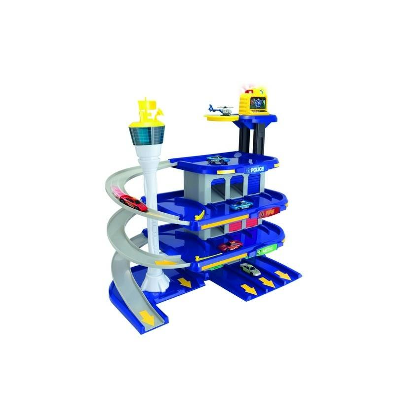 Центр спасательной службы TeamstersЦентр спасательной службысерии Teamstersмарки HTI для мальчиков.<br>Четырёхуровневая парковка с вертолетной площадкой и 2-мя машинками. Игрушка дополнена световыми эффектами. Двери гаража открываются вручную, продуман лифт. Отличный подарок для юного любителя автомобилей.<br>Работает от 3-х батареек 1,5V АА (LR6). Батарейки в комплект не входят.<br>Высота парковки: 60 см.<br><br>Возраст от: 3 года<br>Пол: Для мальчика<br>Артикул: 667064<br>Бренд: Англия<br>Размер: от 3 лет