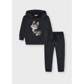 Девочки, Комплект пуловер и брюки MAYORAL (серый)519863, фото