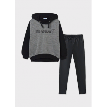 Девочки, Комплект пуловер и брюки MAYORAL (черный)519879, фото