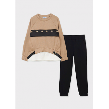 Девочки, Комплект пуловер и брюки MAYORAL (бежевый)519883, фото