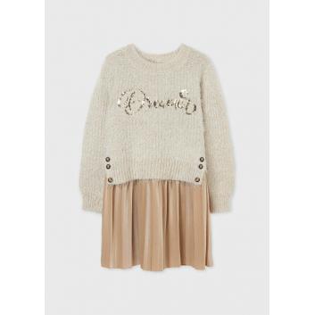 Девочки, Комплект пуловер и платье MAYORAL (белый)519887, фото