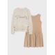 Девочки, Комплект пуловер и платье MAYORAL (белый)519887, фото 3
