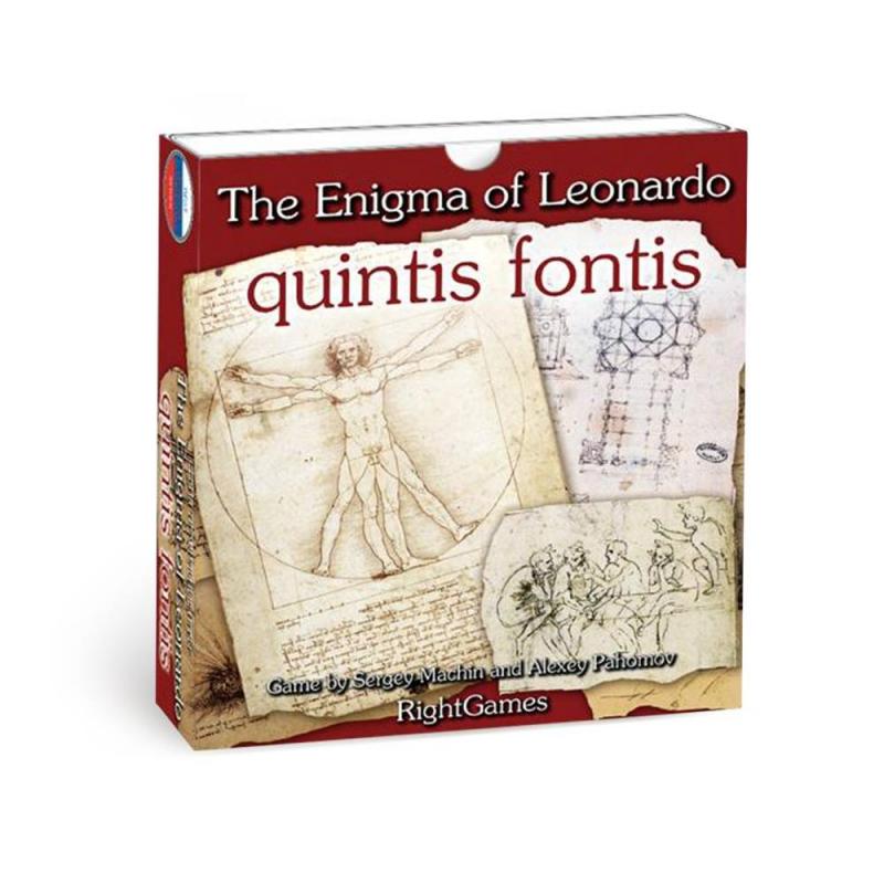 Правильные игры Настольная игра Загадка Леонардо Quintis Fontis игра карточная правильные игры загадка леонардо quintis fontis пятый ключ