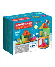 Магнитный конструктор Cube House Penguin 20 дет. MAGFORMERS