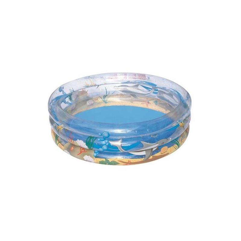 Бассейн круглый Морская жизньБассейн круглый Морская жизнь маркиBestway.<br>Детский надувной бассейнотличается своей прочнейшей конструкцией, состоящей из колец, а также оснащен надежным предохранительным клапаном. С внешней стороны бассейн изображением подводного мира.<br>Материал: ПВХ.<br><br>Размер бассейна: 150х53<br>Пол: Не указан<br>Артикул: 669118<br>Страна производитель: Китай<br>Размер: Без размера