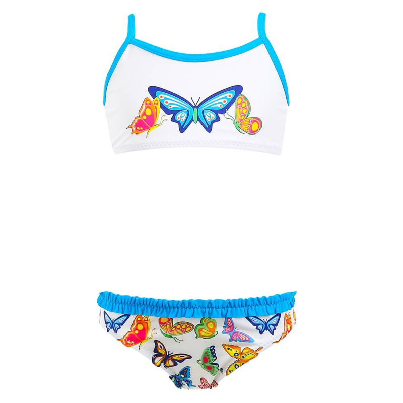 КупальникКупальник Butterfly голубого цвета маркиKeyzi.<br>Купальник выполнен из эластичного быстросохнущего материала и украшен принтом с изображением ярких бабочек. Модель с лифом на тонких бретельках декорирована милыми рюшами на трусиках.<br><br>Размер: 5 лет<br>Цвет: Голубой<br>Рост: 110<br>Пол: Для девочки<br>Артикул: 648357<br>Страна производитель: Польша<br>Сезон: Весна/Лето<br>Состав: 80% Полиамид, 20% Эластан<br>Бренд: Польша