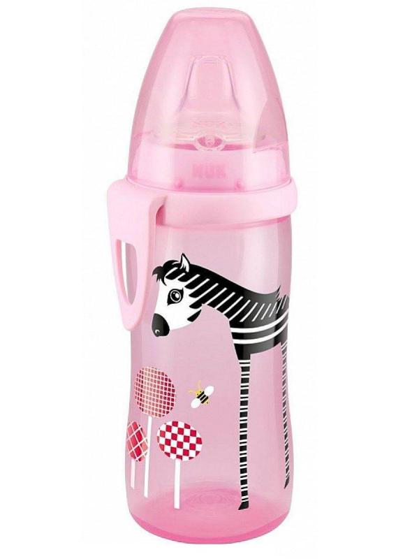 Бутылочка-поильник с силиконовой насадкойActive Cup Nuk (розовый)