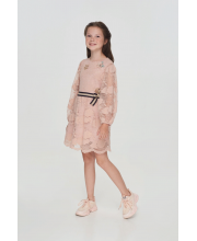 Платье из кружевного полотна с ремешком Choupette