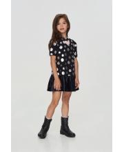 Платье с воланом и сердечками Choupette