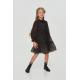 Девочки, Платье многоярусное Choupette (черный)917767, фото 1