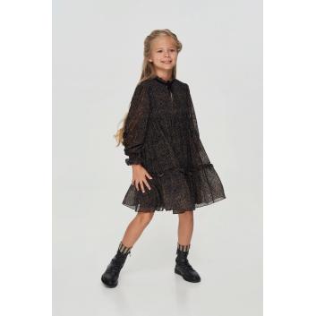 Девочки, Платье многоярусное Choupette (черный)917767, фото