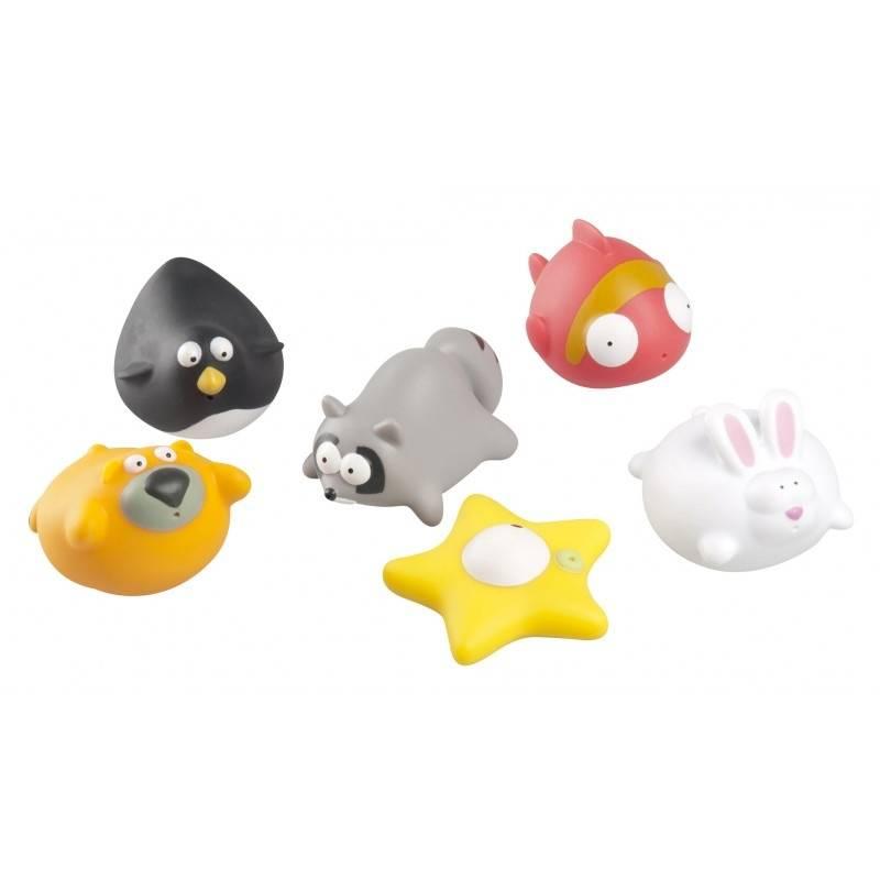 Набор игрушек для купания Веселые друзьяНабор игрушек для купания Веселые друзья марки Babymoov.<br>Забавные игрушки для купания в виде милых зверюшек. Вашему малышу понравится принимать ванну и играть с такими забавными животными. Игрушки упакованы в удобную сумочку для хранения с защитой от воды.<br><br>Возраст от: 9 месяцев<br>Пол: Не указан<br>Артикул: 648575<br>Бренд: Франция<br>Размер: от 9 месяцев